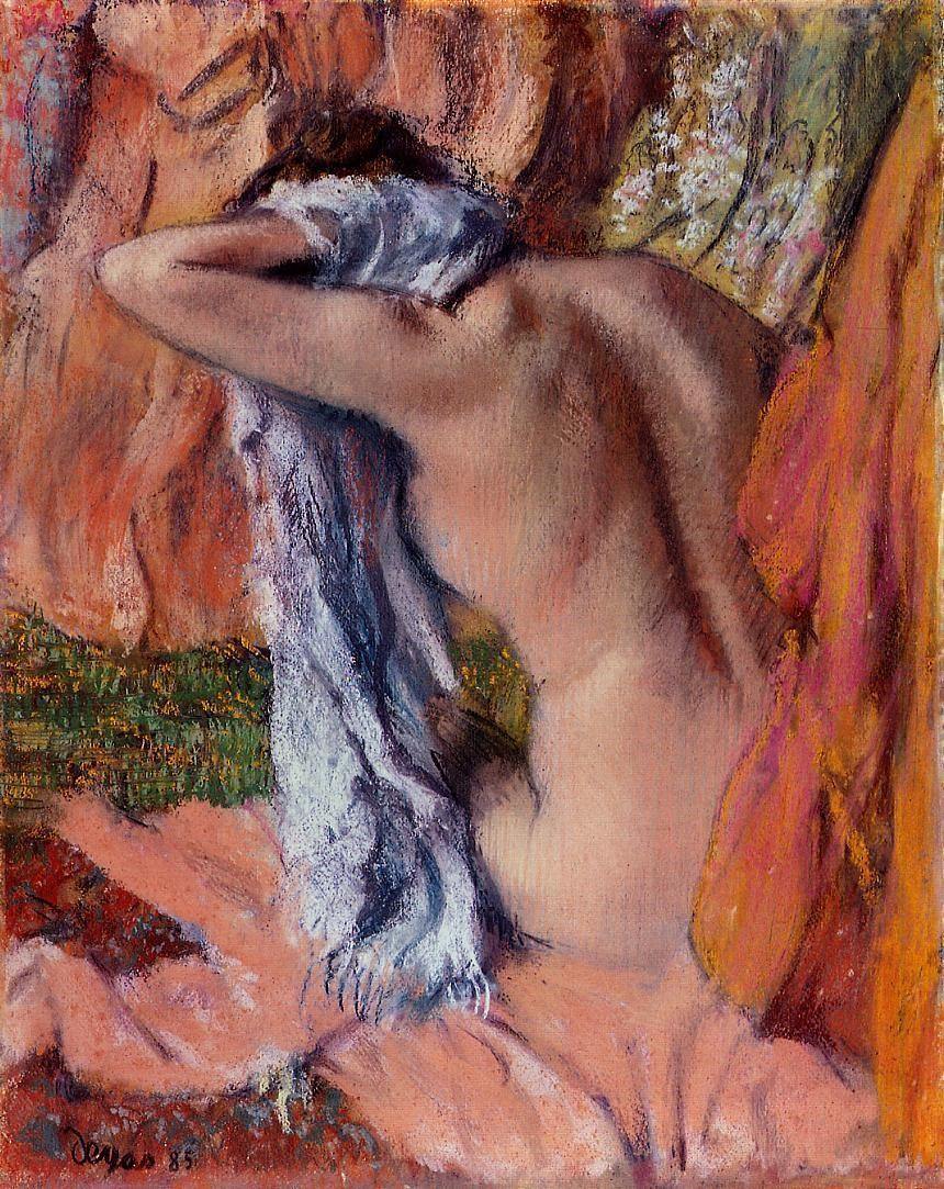 After the Bath, 1890, Edgar Degas